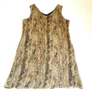 VINTAGE Robbie Bee 100% Silk Snake Print Dress